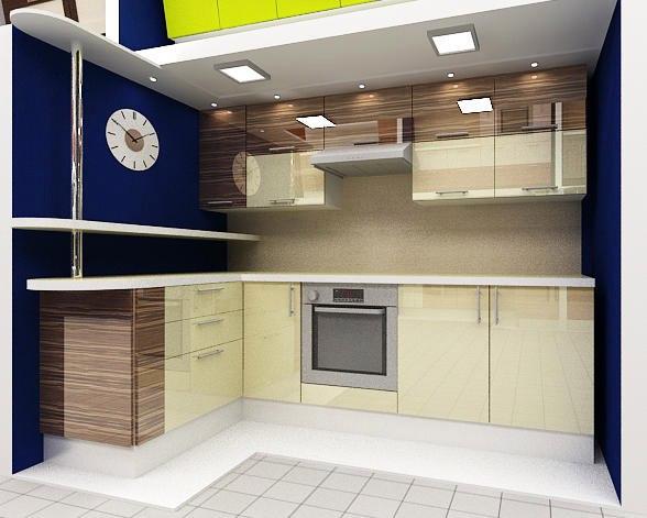 кухня под дерево на заказ. Фото-Дизайн проект.