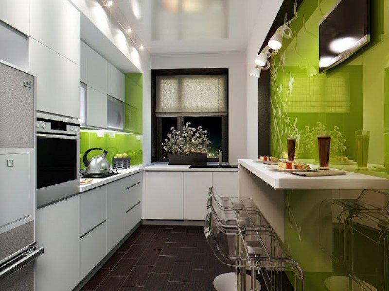 Ремонт кухни длинной и узкой.