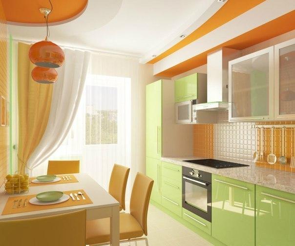 Дизайн зеленой кухни 8 кв м