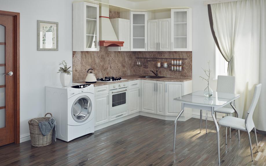 кухня угловая на заказ в стиле модерн