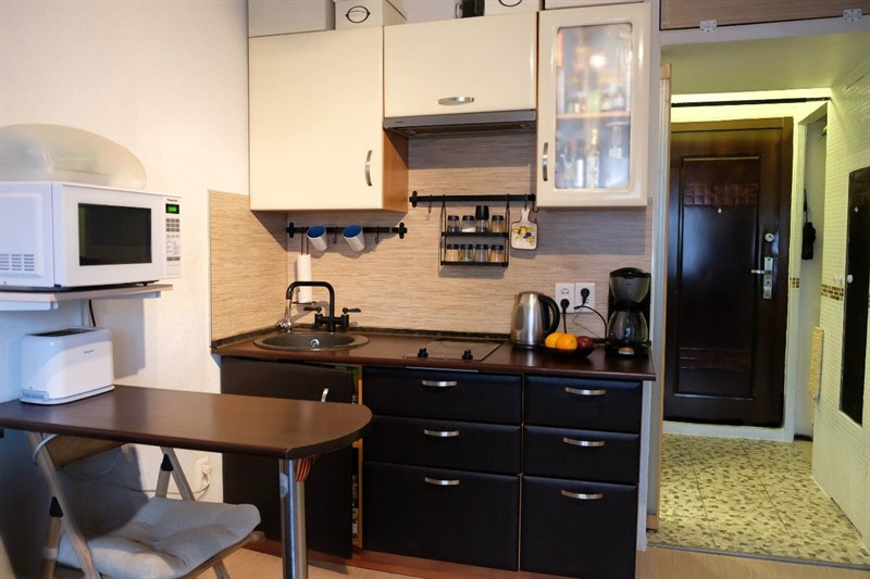 Ремонт в студии 16 квм кухня гостиная