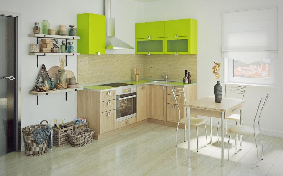 кухня угловая на заказ купить верх зеленый