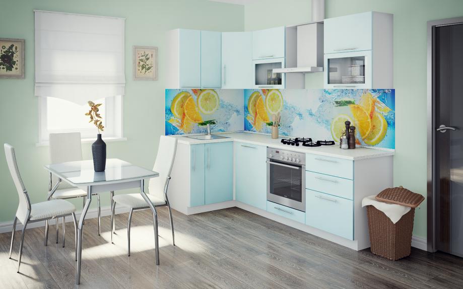 кухня угловая светлая, цвета лазурит, продается недорого на заказ