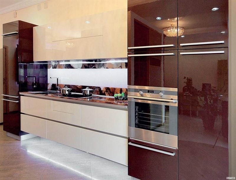 Кухня из стекла, в рубрике,-цвета и материалы.