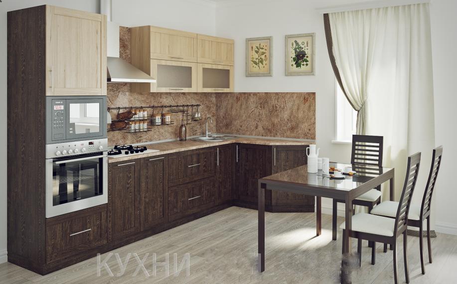 Кухня в стиле современной мебели, недорого, все под ключ.