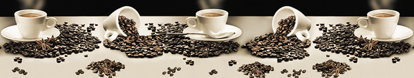 Стеновая панель кофе
