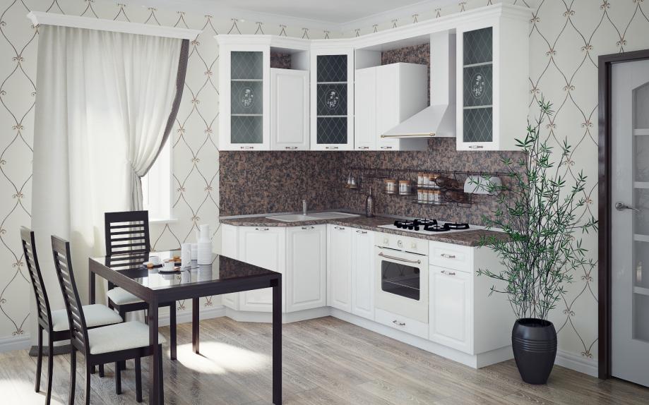 угловые кухни белые