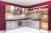 Цена на кухню № 89 Белый и Дерево Пластик 67000 р. Цена по Акции за весь гарнитур 59000 руб.