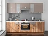 Цена на кухню № 99 Дерево и Имбирь 40000 р. Цена по Акции за весь гарнитур 36000 руб.