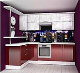 Цена на кухню № 110 Бордо и Неон 46500 р. Цена по Акции за гарнитур 39800 руб.