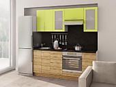 Цена на кухню № 111 Лайм и Зебрано 29213 р. Цена по Акции за гарнитур  22100 руб.
