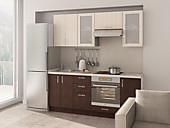 Цена на кухню №72 Дуб и Ясень 27500 руб. Цена по Акции за весь гарнитур 22000 руб.