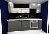 Кухня № 26 Техно концепт - кухня МДФ фасады супер глянец  33628 р по Акции цена 31274 р.