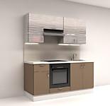 Цена на кухню в СПБ № 7 Комплект Капучино 1800 мм – фасады Пленка 16554 р. по Акции цена 15395р