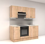 Цена на кухню в СПБ № 5 Комплект Дуб Сонома 1800 мм - фасады ЛДСП 13476 р. по Акции цена 12532 р