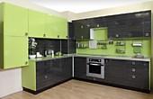 Кухня № 55 кухня угловая Пластик Лайм + Корфу 2800*2750 58690 р.по Акции цена 54581 р.
