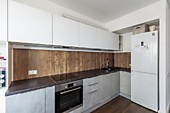 Кухонный гарнитур №250 МДФ/фреза/белый/серый. Цена: 62500 руб.