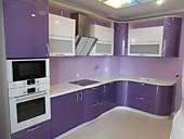 Кухонный гарнитур № 247 МДФ/глянец/гнутый/белый и сереневый. Цена: 95300 руб.