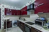 Кухонный гарнитур №234 пластик/глянец/бордо. Цена: 59400 руб.