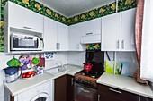 Кухонный гарнитур №225 пластик/белый/коричневый. Цена: 32400 руб.