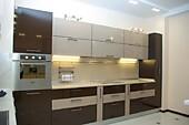 Кухонный гарнитур №205 пластик/коричневый/бежевый. Цена: 55800 руб.