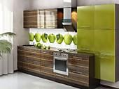 Кухонный гарнитур №210 пластик HPL-глянец/МДФ -Глянец/Зебрано/Олива. Цена: 42600 руб.
