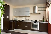 Кухонный гарнитур №237 мдф/эко-шпон/серебряный металлик /Светлый дуб. Цена: 48400 руб.
