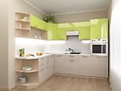 Кухонный гарнитур №239 пластик/глянец/МДФ. Цена: 45300 руб.