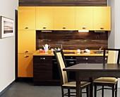 Кухонный гарнитур №221 пластик/глянец/Зибрано/Светлый оранж. Цена: 42400 руб.