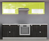 Кухня № 46 Кухня пластик глянец Лайм/Корфу 2500 мм 35066 р. по Акции цена 32611 р.