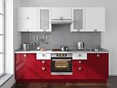 Цена кухни № 170 Бордо и Белый - 40000 р. Цена по Акции за гарнитур 36200 руб.