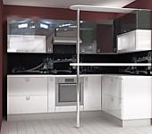 Цена на кухню № 174 Белый и черный - 47156 р. Цена по Акции за гарнитур 39600 руб.