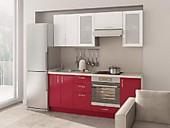 Цена на кухню № 151 Бордо и Белый 33604 р. Цена по Акции за гарнитур 29600 руб.