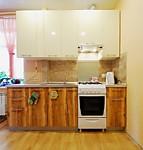 Кухня прямая № 191 из пластика – Индийской дерево/Бежевый глянец 15500 руб.