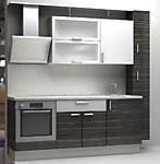Кухня № 42 Кухня пластик Корфу+Белый металлик 2300мм  27000р по Акции цена 25110 р.
