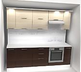Цена на кухню № 17 Кухня ламинированное ДСП Молочный Венге 2400 мм 20472 р. по Акции цена 19038 р.