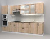 Кухня № 40 Кухня Дуб Сонома 3200мм  28028 р. по Акции цена 26066 р.