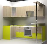 Кухня № 43 Кухня углова+Лайм глянец 2550*1000мм 29000 р. по Акции цена 26970 р.