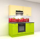 Цена на кухню в СПБ № 3 Комплект Мамба 1800 мм - фасады ЛДСП 12650 по Акции цена 11764 р.