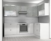 Кухня № 49 Кухня угловая высокий глянец Белая Роза 39990 р. по Акции цена 37190 р.