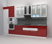 Кухня № 53 Кухня пластик глянец 3800 мм. 53378 р.по Акции цена 49641 р.